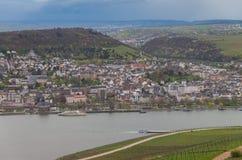 Rudesheim Reno Germania fotografia stock libera da diritti