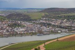 Rudesheim Reno Germania immagini stock