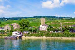 Rudesheim am Rhein, town in the Rhine Gorge, Germany Stock Images