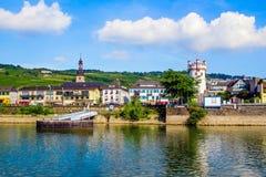 Rudesheim am Rhein, town in the Rhine Gorge, Germany Stock Image