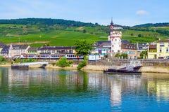 Rudesheim AM Rhein, ville en gorge du Rhin, Allemagne Image libre de droits