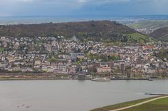 Rudesheim Rhin Alemania imagen de archivo