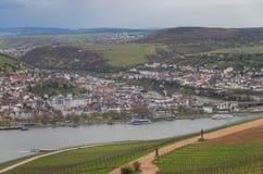 Rudesheim Rhin Alemania imagenes de archivo