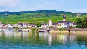 Rudesheim Rhin, ciudad en la garganta del Rin, Alemania Foto de archivo