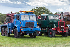 RUDGWICK, SUSSEX/UK - AUGUST 27 : Old trucks on display at the R stock photography