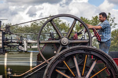 RUDGWICK, SUSSEX/UK - AUGUST 27 : Traction engine at Rudgwick St Royalty Free Stock Image