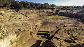 Rudiae roman amfiteater på lecce Italien Royaltyfri Bild