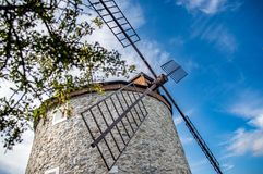 Rudice Windmill in Czech Republic royalty free stock image