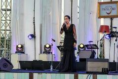 Rudklao Amratisha exécutent dans le jazz dans la mémoire chez Bangsaen Photos stock