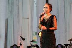 Rudklao Amratisha exécutent dans le jazz dans la mémoire chez Bangsaen Photos libres de droits