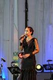 Rudklao Amratisha exécutent dans le jazz dans la mémoire chez Bangsaen Photographie stock libre de droits