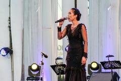 Rudklao Amratisha perform in `Jazz in memory at Bangsaen` Royalty Free Stock Images