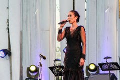 Rudklao Amratisha perform in `Jazz in memory at Bangsaen` concert Stock Images