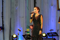 Rudklao Amratisha wykonuje w ` jazzie w pamięci przy Bangsaen ` Fotografia Royalty Free