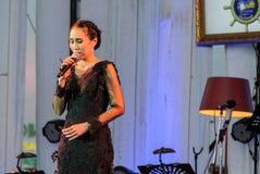 Rudklao Amratisha wykonuje w jazzie w pamięci przy Bangsaen Zdjęcia Royalty Free