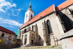 Rudnayovo namestie square and St Martin Cathedral. Travel to Bratislava city - Rudnayovo namestie (square) and St. Martin Cathedral in Bratislava Stock Photos
