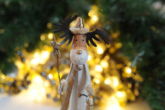 Rudolf. With yellow chritmas lights Royalty Free Stock Photography