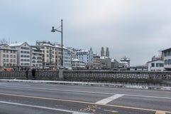 Rudolf Brun bridge in Zurich, Switzerland Stock Photo