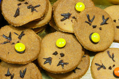 Rudolf Cookies για τα Χριστούγεννα Στοκ εικόνες με δικαίωμα ελεύθερης χρήσης