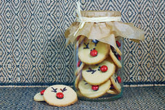 Rudolf Cookies für Weihnachten Lizenzfreies Stockfoto