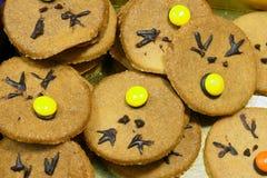 Rudolf Cookies para la Navidad Imágenes de archivo libres de regalías