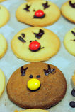 Rudolf Cookies para la Navidad Foto de archivo libre de regalías