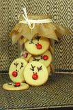 Rudolf Cookies para la Navidad Fotografía de archivo