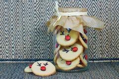 Rudolf Cookies per il Natale Fotografia Stock Libera da Diritti