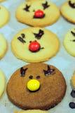 Rudolf Cookies voor Kerstmis Royalty-vrije Stock Foto