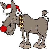 Rudolf de rode besnuffelde ezel Royalty-vrije Stock Fotografie