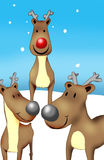 Rudolf ed amici Fotografia Stock Libera da Diritti