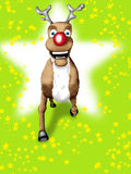 Rudolf el reno olfateado rojo Foto de archivo