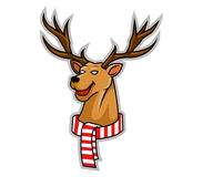 Rudolf Head Illustration Stock