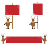 Rudolf Holding Placards And Banner Royalty Free Stock Images