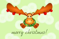 Rudolf the Reindeer card Stock Photo