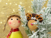 Rudolf the Reindeer Stock Images