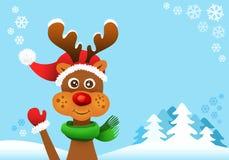 Rudolf a rena cheirada vermelha Imagem de Stock