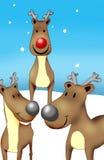 Rudolf y amigos Foto de archivo libre de regalías