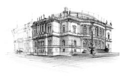 Rudolfinum illustration stock