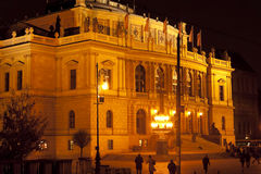 Rudolfinum concert and exhibition hall in the center of Prague, Royalty Free Stock Photo