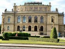 Rudolfinum - Dvorak Pasillo Imágenes de archivo libres de regalías