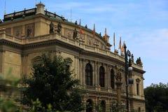 Rudolfinum gamla byggnader, Prague, Tjeckien Royaltyfria Bilder