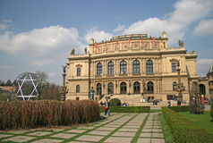 He Rudolfinum - that is the historic philharmonic orchestra building in Prague, Czech Republic Royalty Free Stock Photos