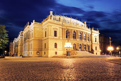 Rudolfinum, music auditorium in Prague, Czech Republic Stock Photo