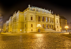 Rudolfinum at night, Prague, Czech Republic Royalty Free Stock Photos