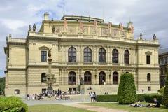 Rudolfinum in Praag - Tsjechische Republiek stock fotografie