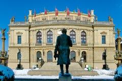 Rudolfinum, Praag, Tsjechische Republiek Royalty-vrije Stock Foto's