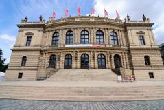 Rudolfinum in Prague. Rudolfinum is a music auditorium in Prague, Czech Republic Royalty Free Stock Photos