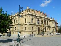 Rudolfinum Prague, Tjeckien Arkivfoto