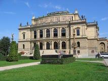 Rudolfinum, salle de concert. Photographie stock